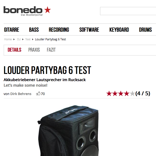 Partybag 6 Reviewed by Bonedo